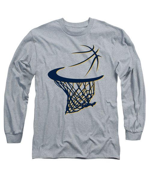 Pacers Basketball Hoop Long Sleeve T-Shirt