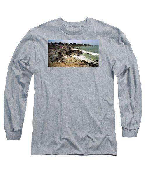 Pacific California Coast Beach Long Sleeve T-Shirt by Ted Pollard