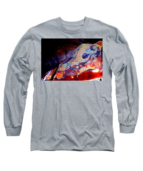 Painted Cave Skull Long Sleeve T-Shirt