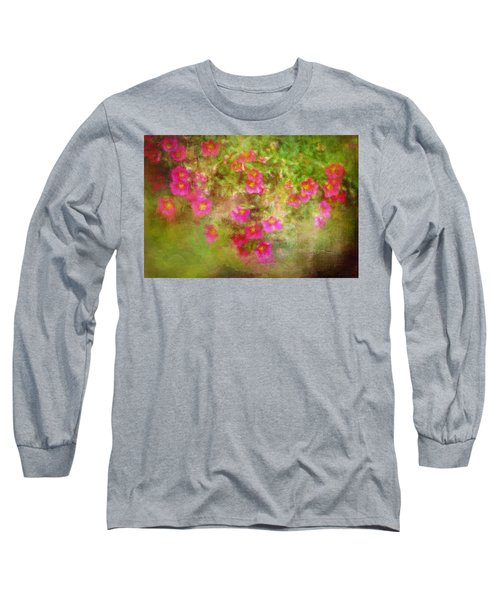 Painted Flowers Long Sleeve T-Shirt