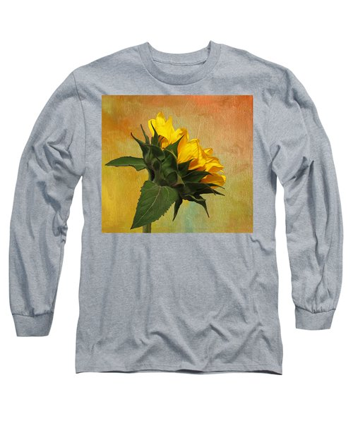 Painted Golden Beauty Long Sleeve T-Shirt by Judy Vincent