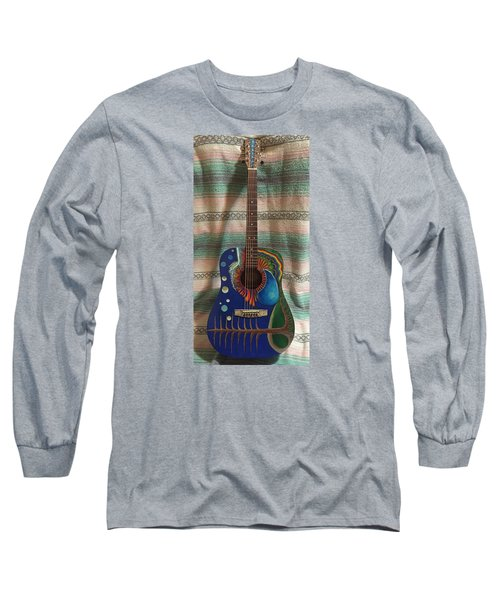 Painted Guitar Long Sleeve T-Shirt by Steve  Hester