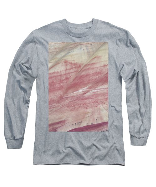 Painted Hills Textures 1 Long Sleeve T-Shirt by Leland D Howard
