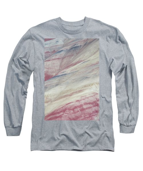 Painted Hills Textures 3 Long Sleeve T-Shirt by Leland D Howard