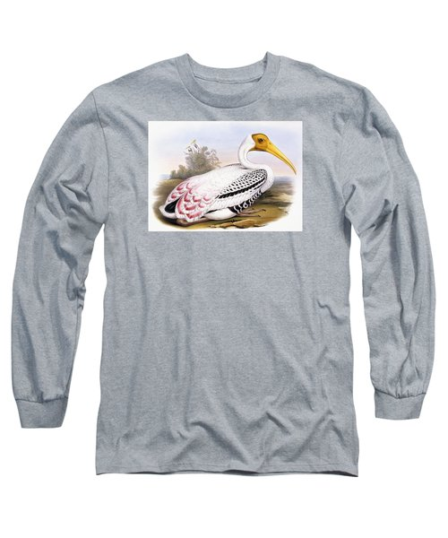 Painted Stork Long Sleeve T-Shirt