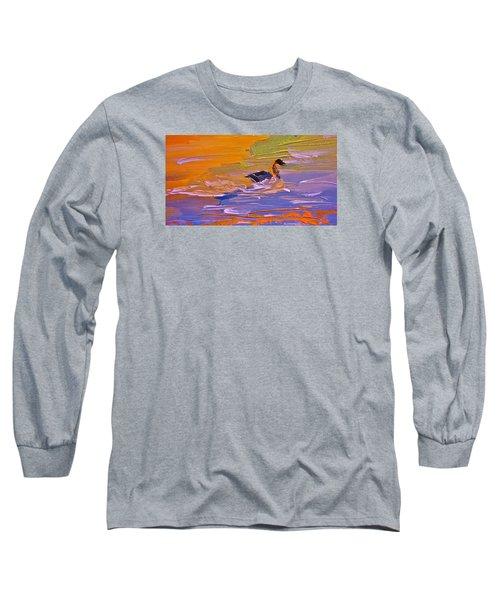 Painterly Escape Long Sleeve T-Shirt by Lisa Kaiser