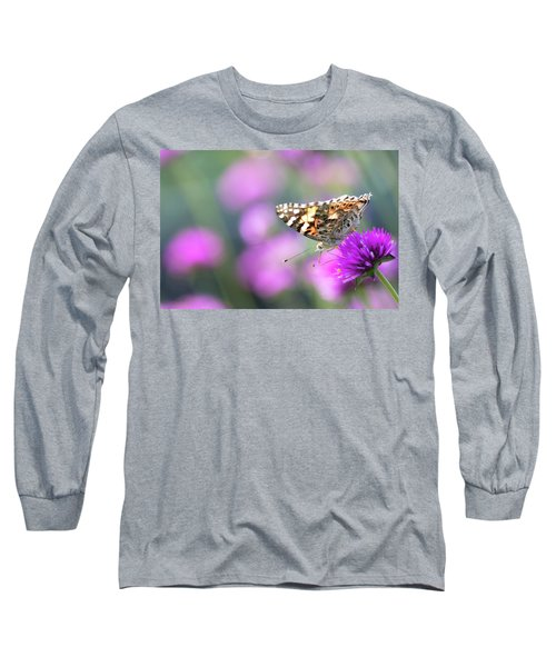 Long Sleeve T-Shirt featuring the photograph Painterly Painted Lady 2 by Brian Hale