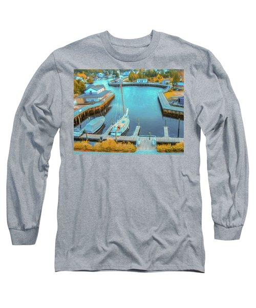 Painterly Tuckerton Seaport Long Sleeve T-Shirt
