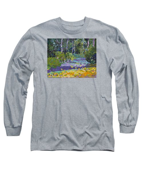 Painting Pixie Forest Long Sleeve T-Shirt by Chris Hobel