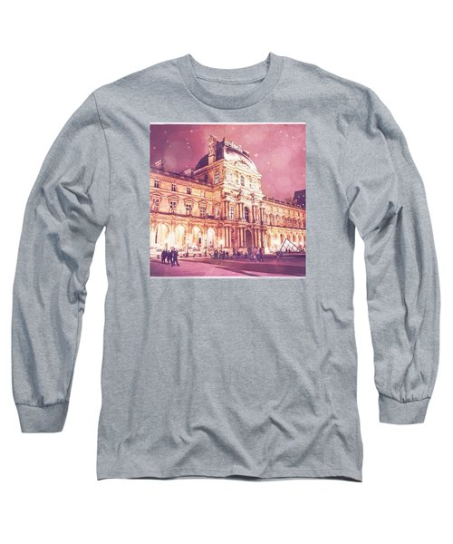 Palais Du Louvre En Rose Long Sleeve T-Shirt