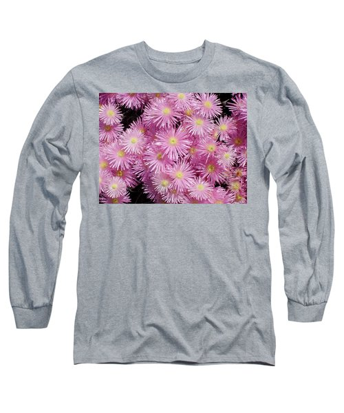 Pale Pink Flowers Long Sleeve T-Shirt by Mark Barclay
