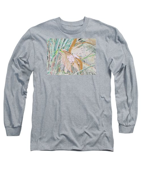 Long Sleeve T-Shirt featuring the painting Palm Flowers by Hilda and Jose Garrancho