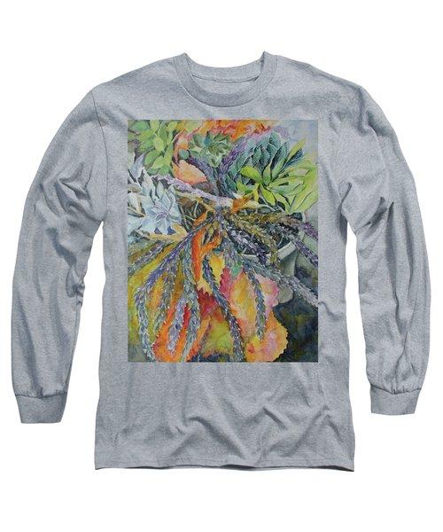Palm Springs Cacti Garden Long Sleeve T-Shirt by Joanne Smoley