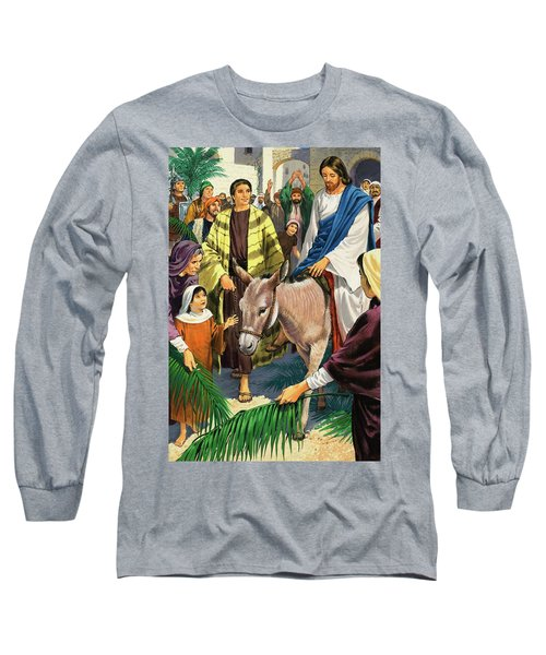 Palm Sunday Long Sleeve T-Shirt by Clive Uptton