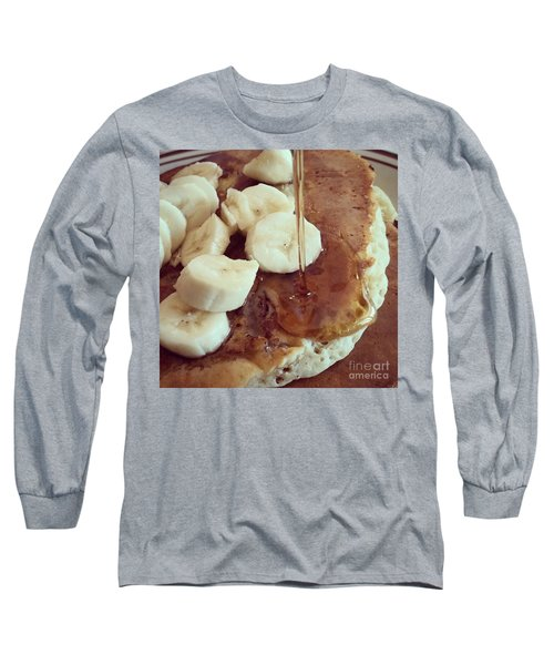 Pancakes  Long Sleeve T-Shirt by Raymond Earley