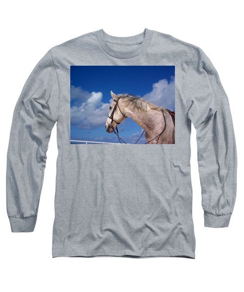 Long Sleeve T-Shirt featuring the photograph Pancho by Mary-Lee Sanders