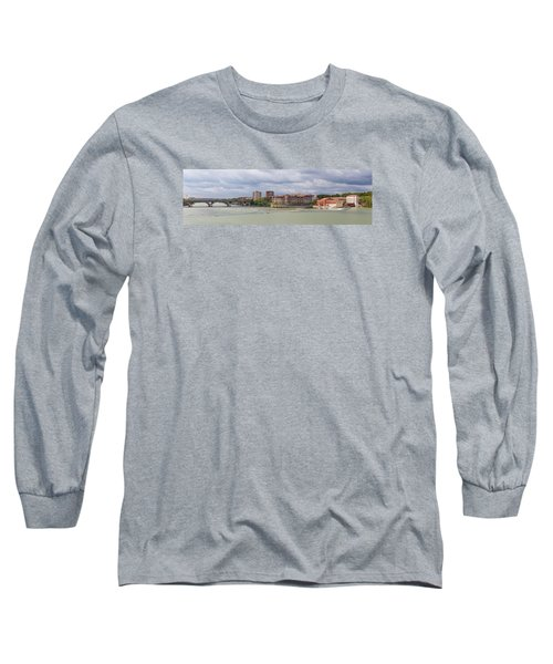 Panorama Of The Hydroelectric Power Station In Toulouse Long Sleeve T-Shirt by Semmick Photo
