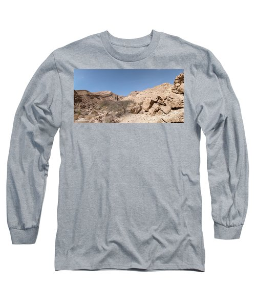 Panorama On Genesis Land 03 Long Sleeve T-Shirt by Arik Baltinester