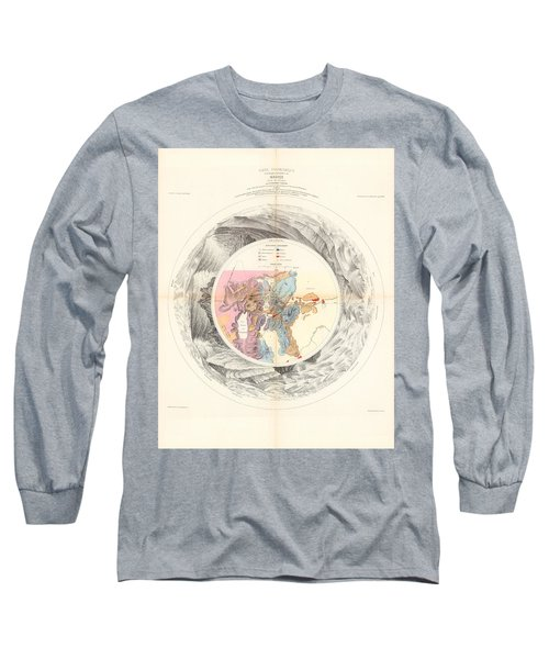 Panoramic Map Of Washoe, Nevada - Carte Panoramique - Historic Map - Old Atlas - Geological Chart Long Sleeve T-Shirt