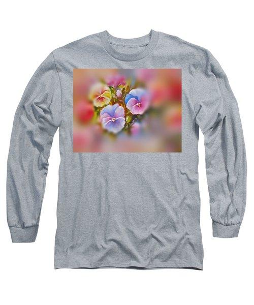 Pansies Long Sleeve T-Shirt