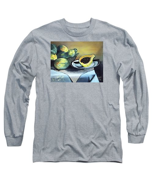 Papaya Still Life Long Sleeve T-Shirt