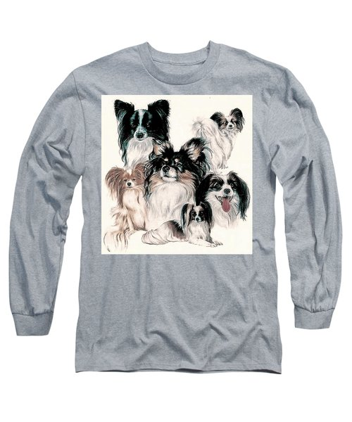 Papillon And Phalene Collage Long Sleeve T-Shirt