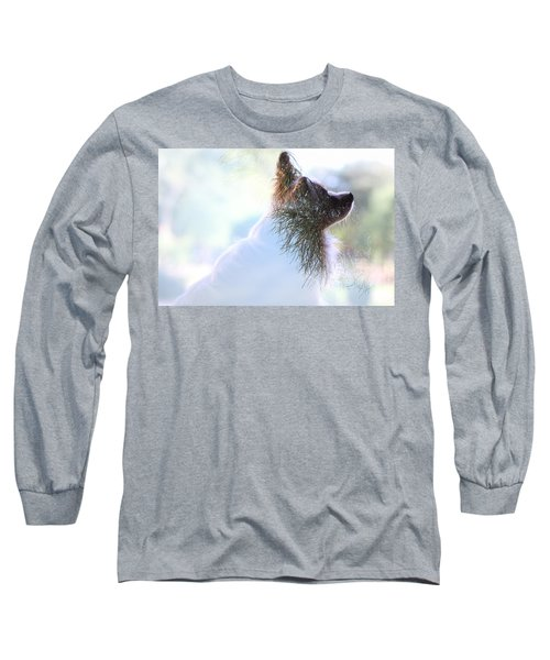 Papillon Pine Landscape Long Sleeve T-Shirt
