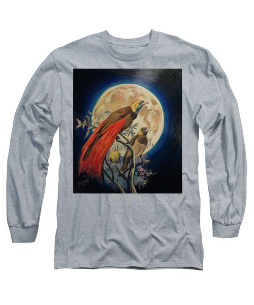 Paradise Birds Long Sleeve T-Shirt by Nop Briex