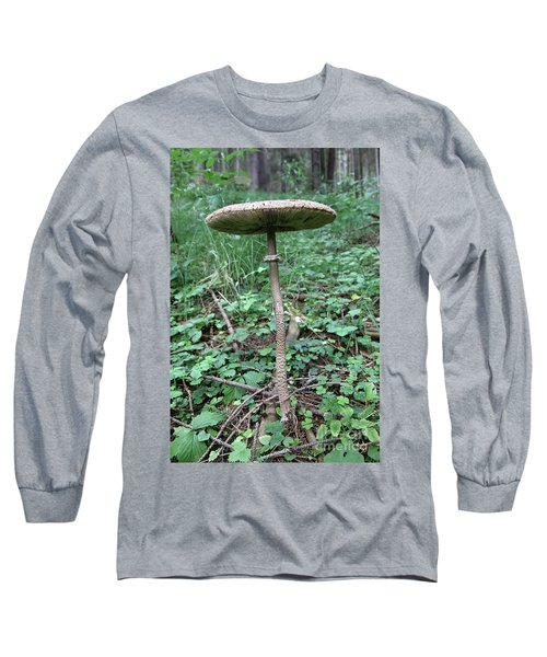 Parasol Mushroom In A Forest Long Sleeve T-Shirt