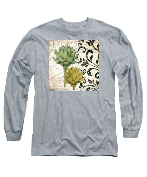 Paris Artichokes Long Sleeve T-Shirt by Mindy Sommers
