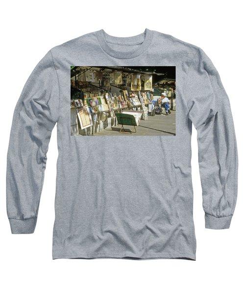 Paris Bookseller Stall Long Sleeve T-Shirt