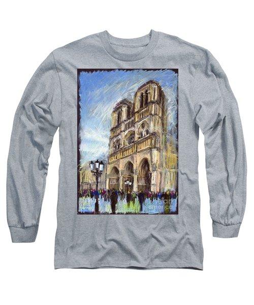 Paris Notre-dame De Paris Long Sleeve T-Shirt