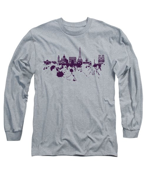 Paris Skyline.1 Long Sleeve T-Shirt