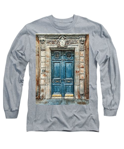 Parisian Door No. 3 Long Sleeve T-Shirt by Joey Agbayani