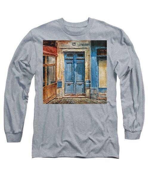 Parisian Door No.36 Long Sleeve T-Shirt by Joey Agbayani