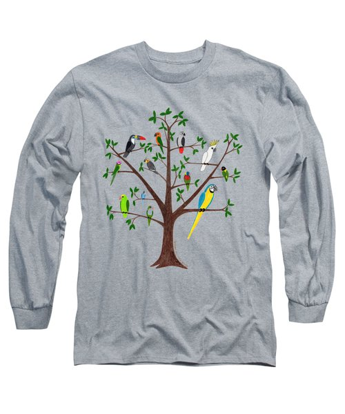 Parrot Tree Long Sleeve T-Shirt by Rita Palmer