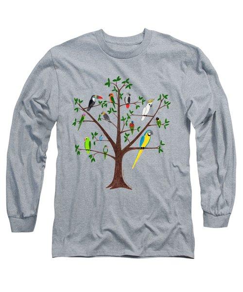Parrot Tree Long Sleeve T-Shirt