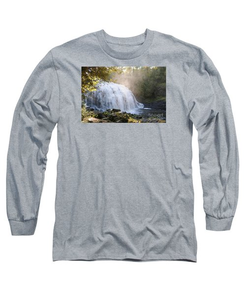 Long Sleeve T-Shirt featuring the photograph Partridge Falls by Sandra Updyke