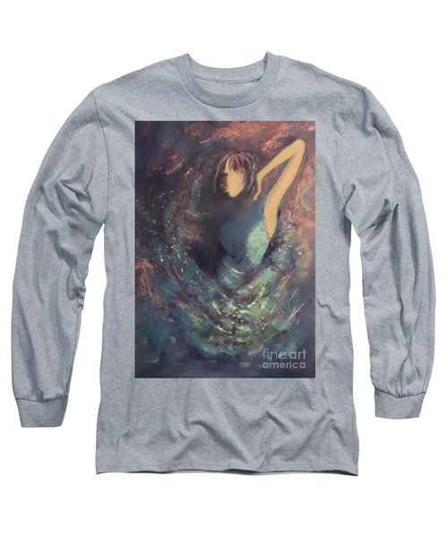 Party Girl Long Sleeve T-Shirt by Genevieve Brown