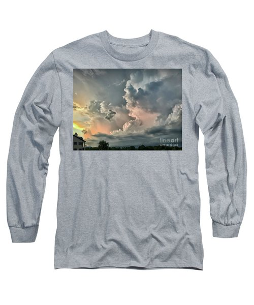 Pastel Clouds Long Sleeve T-Shirt by Walt Foegelle