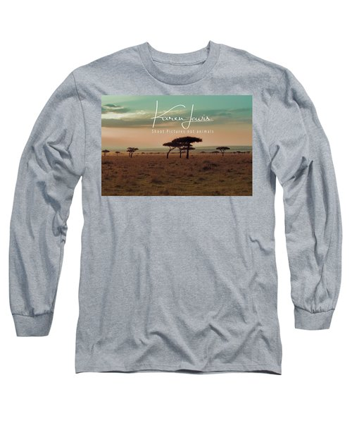 Long Sleeve T-Shirt featuring the photograph Pastel Dawn On The Mara by Karen Lewis