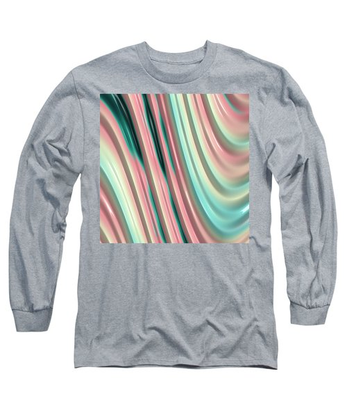 Pastel Fractal 2 Long Sleeve T-Shirt by Bonnie Bruno