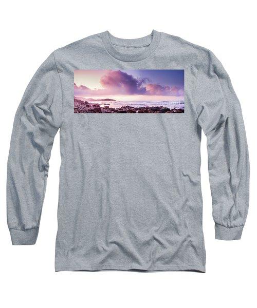 Pastel Purple Seashore Long Sleeve T-Shirt