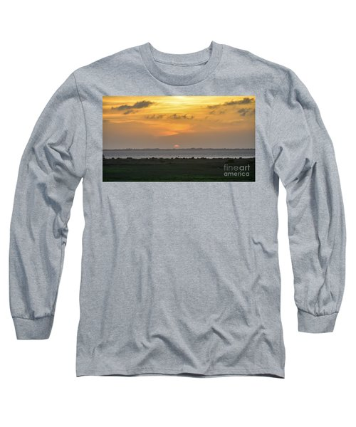 Long Sleeve T-Shirt featuring the photograph Pastel Sky by Debra Martz