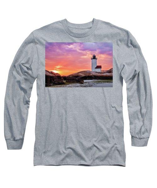 Pastel Sunset, Annisquam Lighthouse Long Sleeve T-Shirt