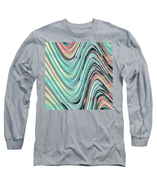 Pastel Zigzag Long Sleeve T-Shirt by Bonnie Bruno