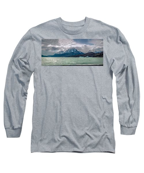 Long Sleeve T-Shirt featuring the photograph Patagonia Lake by Andrew Matwijec