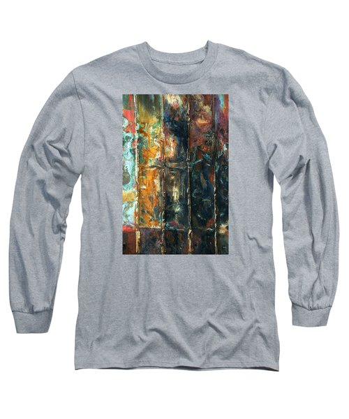 Patchworks 2 Long Sleeve T-Shirt by Newel Hunter