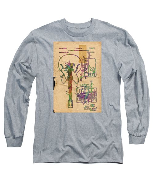 Patent Gibson Guitar Drawing Poster Print Long Sleeve T-Shirt