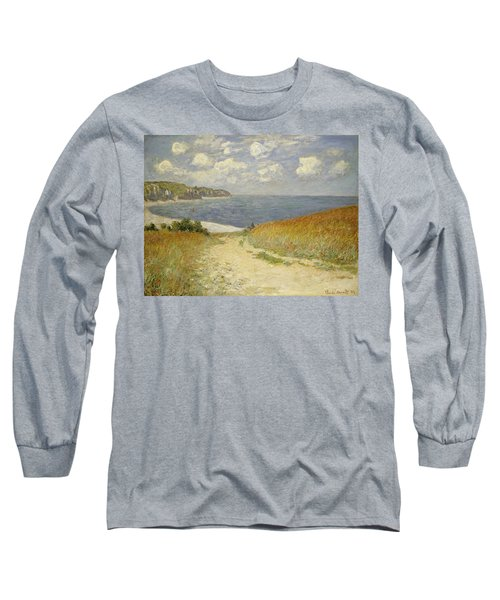 Path In The Wheat At Pourville Long Sleeve T-Shirt